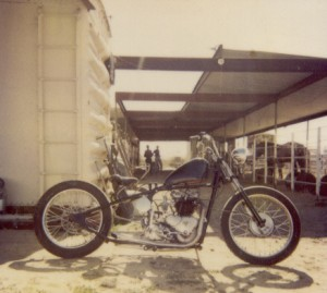 Custom Truimph 6T Twin, Skunk Creek Ironworks and Ranch, Arizona, 1992